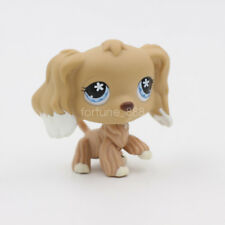 LPS Toys Littlest Pet Shop Snow Blue Eyes Tan Cream Cocker Spaniel Dog Puppy Toy