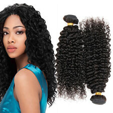 FEBAY 150g 3Bundles Virgin Brazilian Kinky Curly Hair Weave Human Hair Extension