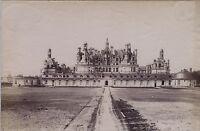 Castello Di Chambord E Blois 2 Foto Doppio / Verso Vintage Ca 1880