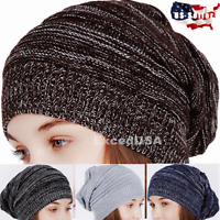 Women Men Winter Warm Beanie Knit Slouchy Plain Cap Ski Hat Hats Caps Skull Cuff