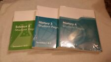 K12 Science 3 History 3 and History 4 Student Guides Sem 1 & 2 Homeschool NEW