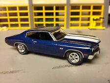 1/641970 Chevy Chevelle SS454 in Fanthom Blue/ Black Int/White Stripes Cowl Hood