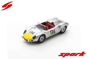 S4149 Spark: 1/43 Porsche 718 RS61 #136 Pole Targa Florio 1961 S. Moss - G. Hill