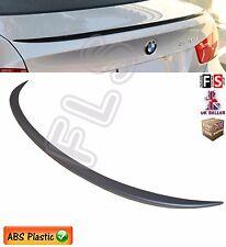 BMW 3 SERIES E90 M SPORTS REAR TRUNK BOOT LIP SPOILER 05-11 MATT BLACK