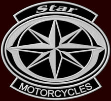 """XL YAMAHA STAR MOTORCYCLES EMBROIDERED BACK PATCH ~10-1/2""""x 9-5/8"""" XVS DRAG STAR"""