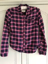 Abercrombie Kids Blue/pink Checked Soft Shirt Size M Used But Good Condition