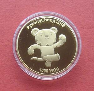 South Korea 2017 PyeongChang Winter Olympics Games 1000 WON Copper-Zinc PP Coin