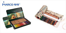 Marco Renoir Fine Art 24/36/48 Water Color Drawing  Pencil Tin and Wrap Case Set