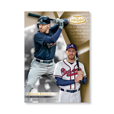 Freddie Freeman #9 Braves Class 2 version #/10 made 2018 Topps Gold Label 5x7
