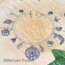 Wheel of the Year Charm Bracelet - Pagan Sabbat Jewellery Wicca Witch 4 Seasons