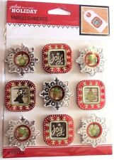 Holiday Frames Repeat Christmas Joy Foil Accents Bright Jolee's 3D Stickers