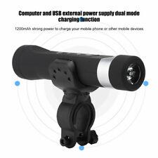 Fahrrad Taschenlampe LED USB 1200mAh Fahrradlicht Lautsprecher Musik Player