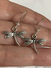 Plated Small Dragonfly Dangle Earrings Lot 5 Pairs Sterling Silver