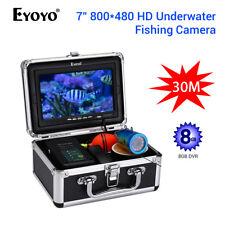 """Eyoyo 7"""" Inch Monitor Underwater 30m Fishing Camera 8gb DVR 1000tvl Fish Finder"""