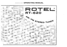 Rotel RT-620 Tuner Owners Instruction Manual