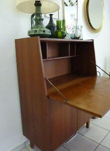 50er 60er Jahre Mid Century Sekretär Schreibtisch Schrank Kommode Vintage Teak?