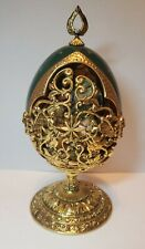 """The House of Faberge Franklin Mint """"The Shepherds Gift"""" Christmas Collector Egg"""