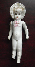"Vintage 1920s 160 1 German Bisque Girl Character Doll 4 1/4"" Tall"