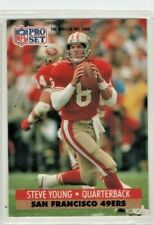 1991 Pro Set Football  #296 Steve Young San Francisco 49ers