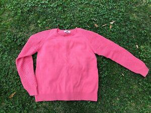 Jag women's jumper, coral colour, size M, wool/cotton