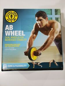 Gold's Gym Ab Wheel Abdominal Workout Roller w/ Dual Wheels - NEW IN BOX