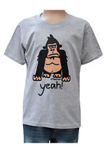 NEW! KIDS 'YEAH!' Gorrilla grey T.shirt, 3-4 upto 9-11y
