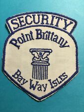 Security Point Brittany Bay Way Isles Sew On Patch 3 1/2 X 4 #K40