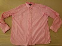 Mens Polo Ralph Lauren Dress Shirt XXL 2XL Custom Pink Button Cotton