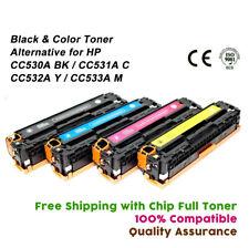 4PK CC530A Toner Cartridges Set for HP Color Laserjet CP2025DN CP2025N CM2320NF
