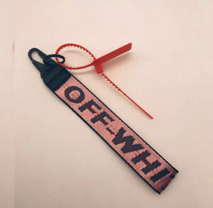 Light Pink Off White Inspired Industrial Keychain Lanyard - FREE SHIPPING!!! NY