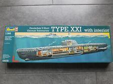 Revell 1:144 Modellbausatz deutsches U-Boot Type XXI with interior Nr. 05078