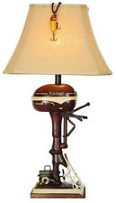 Boat Motor Table Lamp, Nautical Red,Outboard, Rustic, CL3404, Vintage Direct