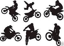 Bike motocross Set of 6 Wall Art Sticker Free Postage