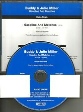 BUDDY & JULIE MILLER Gasoline and matches 2009  USA PROMO Radio DJ CD single