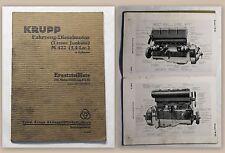 Krupp Fahrzeug-Dieselmotor Ersatzteilliste Motor 50101-51150 (um 1920) Automobil