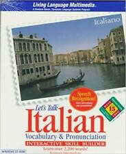 Let's Talk Italian: Vocabulary & Pronunciation: Interactive Skill Builder PC CD