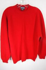 Lands End Wool Sweater Size Large Pullover Red Vtg Direct Merchant