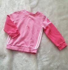 Adidas Girls aged 18m 2 yrs Years Sweatshirt Jumper Pink
