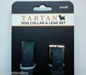 Black Watch Tartan Dog Collar & Lead Set (Small Dogs)-Gift, Scottish Novelty