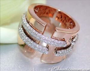 Stattliche Eleganz: Schwerer Diamanten Ring in Roségold 750, 1,05 ct. TW VS