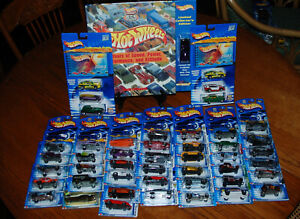 Hot Wheels Highway 35th Anniversary  Collectors Lot Hard Book & 40+cars