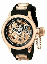 Invicta 52mm Russian Diver Mechanical Skeletonized 18k Rose Gold Plated SS Watch