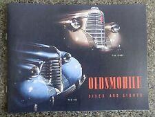 1938 OLDSMOBILE SALES  BROCHURE  '' RHD AUSTRALIAN VERSION''  SUPER RARE!
