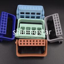 10 Pcs Dental Files Tips Holder Endo Measuring Instruments Plastic 16 Holes