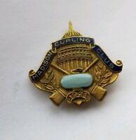 Vintage 1921 MADISON WISCONSIN Curling Club Pin / Pinback Lapel Pin