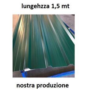 LAMIERA GRECATA COPERTURA 1010 MM Lunghezza 1500 MM Colore Verde Muschio