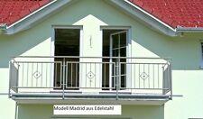 Balkongeländer aus Edelstahl Modell Madrid zur Eigenmontage