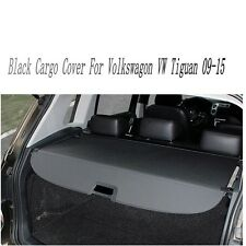 Black Rear Trunk Security For VW Volkswagon Tiguan 2009-2014 2015 Cargo Cover