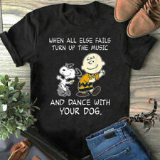 When All Else Fails Turn Up The Music & Dance With Your Dog T-Shirt, NEW