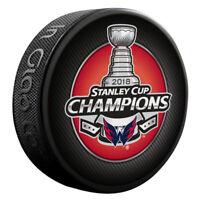 WASHINGTON CAPITALS 2018 Stanley Cup Champions SOUVENIR HOCKEY PUCK Inglasco